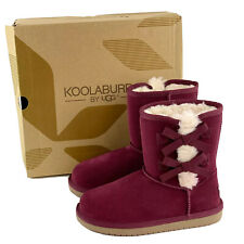 Koolaburra By UGG Little Girls Boots Victoria Short Wild Plum Purple Kids Boot