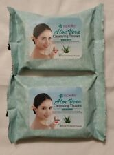 Lot of 2, Epielle Aloe Vera Makeup Remover Wipes, Pre-Moistened, 30 Count Packs