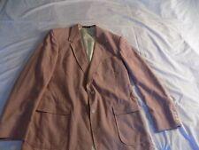 TOWN CRAFT Mens 46XL Light Red Suit Jacket 2 button Blazer