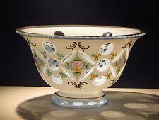 Moser Bowl Bohemian White Cut to Blue Overlay Czech Glass Haida Novy Bor Bohemia