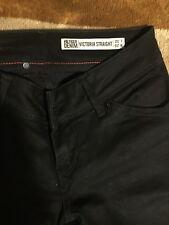 Tommy Hilfiger Denim Black 'Victoria' Straight Jeans 26W 32L