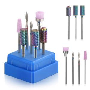 set puntas para drill de unas acrilicas brocas para uñas 7pcs Nail Drill kit