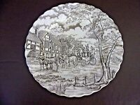 Royal Mail Ironstone Brown 10 Inch Dinner Plate (Stained) (#5C036)