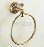 Bathroom Accessory Antique Brass Wall Mounted Round Towel Ring Holder sba489