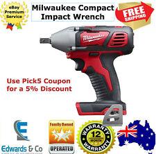 "Milwaukee Impact Wrench 1/2"" 18V Compact Cordless Li-ion M18 Pin-Detent M18BIW12"