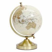 VINTAGE WORLD GLOBE desktop table desk map earth travel gold gift holiday