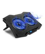 AICHESON Laptop Cooling Cooler Pad 15.6-17.3 Inch with Metal Panel, 2 fans