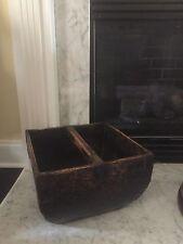 Antique Vintage Asian Wooden Rice Bucket Basket Home Decor