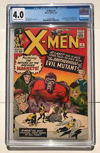 X-Men #4 ( Mar 1964, Marvel ) 1st Scarlet Witch / Quicksilver CGC 4.0KEY ISSUE!