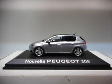 PEUGEOT 308 NOUVELLE GRIS ARTENSE CAR OF YEAR 2014 PEUGEOT DEALER NOREV 1:43