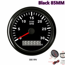 Black 85mm LCD Digital Tachometer 3000RPM Diesel Engine Tacho Meter RPM Gauge