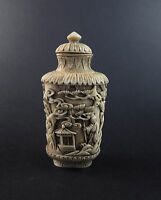 Antique Chinese Qing period carved snuff bottle