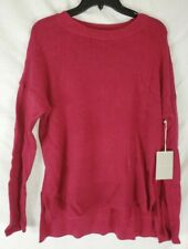 Chelsea28 Women's Pink Small Crewneck High/Low Long Sleeve Sweater New with Tags