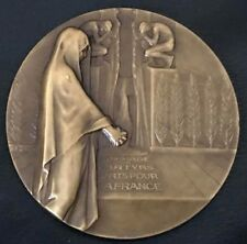 BRONZE ART-DECO WWII MEDAL BY BAZOR / POLITICAL PRISONERS / 68 mm / N143