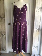 Bnwt Anthropologie Moulinette Soeurs Strappy Lace MIDI Dress Size  16