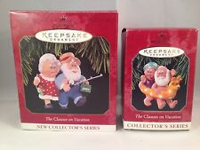 Hallmark Keepsake Christmas Ornament Clauses On Vacation Collectors Series 97-98