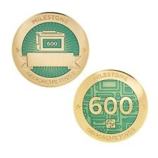 Milestone Geocoin and Tag Set - 600 Finds Geocaching Official Trackable