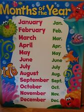 Educational/School Supplies: Colorful Sea Creature Wall Chart - Months of the Yr