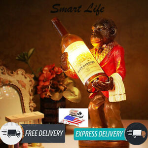 Table Lamp Art Deco Monkey Wine Bottle Luminaria De Mesa Utilidades Domesticas