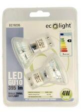 4x Ecolight LED GU10 Lightbulbs 4Watt 40 W Daylight Energy Saving A*