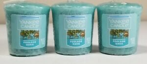 Yankee Candle - POOLSIDE OASIS SCENT VOTIVES - Pack of 3 EACH 1.75oz - 49gram