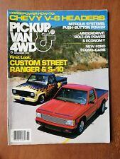 Pickup, Van & 4WD Magazine November 1982 - Ford Ranger - Chevy S-10 - Nitrous