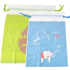 2Pcs Portable Waterproof Shoes Nylon Cloth Pouch Travel Drawstring Storage Bag