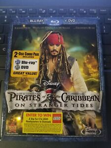 PIRATES OF THE CARRIBEAN:ON STRANGER TIDES-BLUE RAY-DVD COMBO-2011-REGION 1