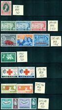 GRENADA 170-398 SG191-MS427 MH 1953-70 33 sets, 2 singles, 9MS Cat$61