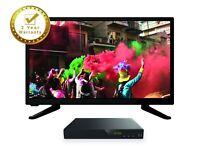 "20"" Freeview Slim LED HD TV DVD Caravan Boat HGV 12v 240v 12 Volt  USB"