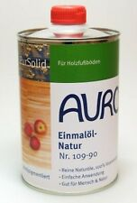 AURO 109-90 Einmalöl-Natur, Holzschutz für Möbel, Fußboden u. alles aus Holz 1 L