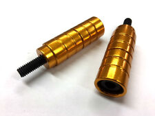 GOLD STUNT SCOOTER PEGS WITH HARDENED STEEL AXLE BOLTS (12.9) PAIR