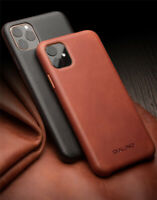 Qialino Handmade Genuine Leather Case Ultra Thin Cover f iPhone 12 11 Pro XS Max