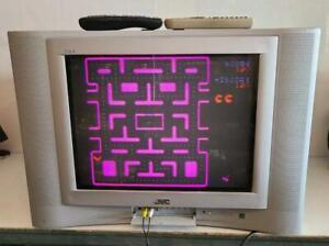 "JVC I'ART CRT TV 20"" 20F475 AV-20F475 Retro Video Gaming Vintage 2004 S-Video"