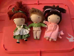 joan walsh anglund Pocket Doll Lot Of 3