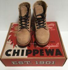 Chippewa Khaki Suede Service Boot Style 1901G27 New - Shipped Without Box