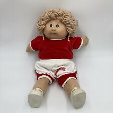 Rare VTG Cabbage Patch Doll Boy 1982 Blonde Hair Green Eye Two Dimples Hong Kong