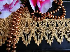 Metallic Venise Gold Embroidery lace trim - selling by the yard