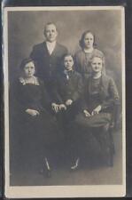 REAL PHOTO Postcard GRAND RAPIDS Michigan/MI  Rev John L Tielen & Family 1910's