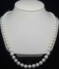 pearl necklaces 22 inches Genuine Cultured 8-9mm white