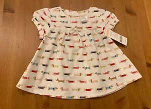 Gymboree Girls 6-12M Puppy Dress 2009 NWT Multicolored Vintage