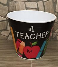 "#1 TEACHER Melamine Pot container 4 1/2""H X 5""Opening"