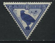 Iceland 1930 10 aurar Airmail unmounted mint NH