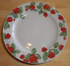 2 STRAWBERRY SOCIAL DINNER PLATE 10¾ in. TIENSHAN STONEWARE