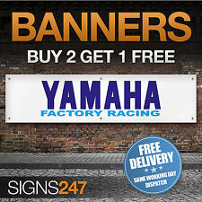 YAMAHA Motorcycles Factory Racing garage workshop PVC banner sign (ZA080)
