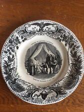 Assiette napoleon creil montereau n°8 captivité de napoleon a saint helene
