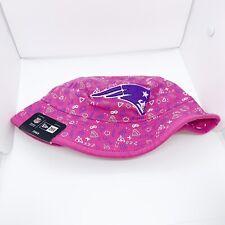 New era kids toddler bucket hat 100%authentic Pink New England Patriots Logo