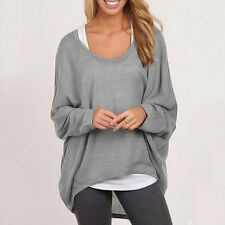 Womens Long Sleeve Sweatshirts Baggy Tops Pullover Blouse Tunic Casual T-shirts
