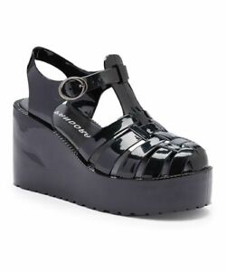 Pandora Women's Wedge Platform Jelly Sandal - Black Size 7