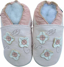 shoeszoo soft sole leather baby shoes flower light pink 18-24m S